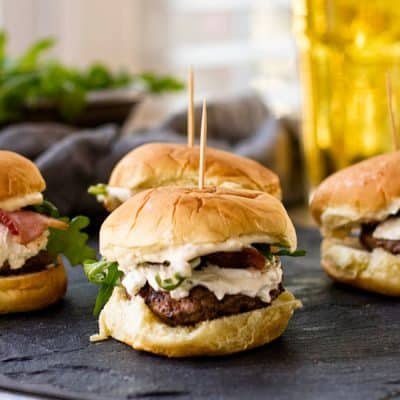 Bacon & Goat Cheese Sliders