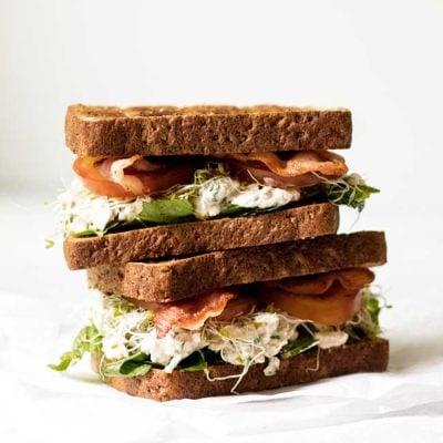 Bacon Blue Cheese Chicken Salad Sandwiches