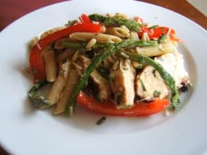 Grilled chicken with pesto-inspired pasta salad | girlgonegourmet.com