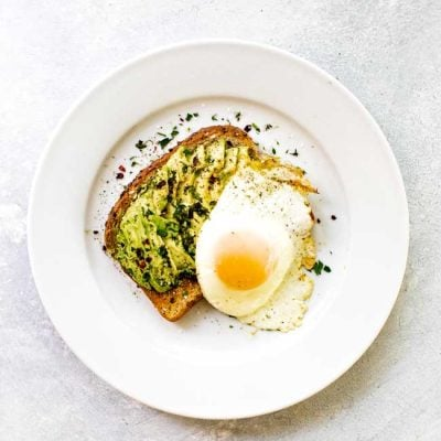 Avocado Toast with a Sunny-Side-Up Egg