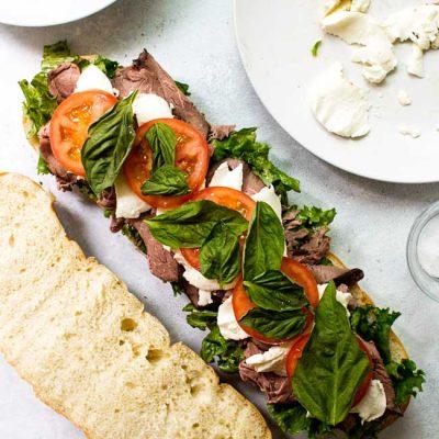 Caprese Roast Beef Sandwiches