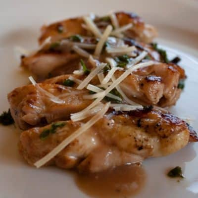 Pan-Seared Chicken with Pluot Sauce