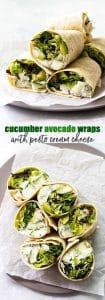 cucumber avocado wraps