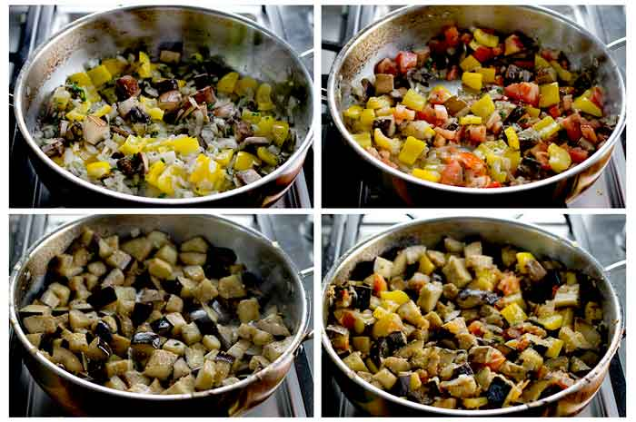 Steps for making eggplant casserole