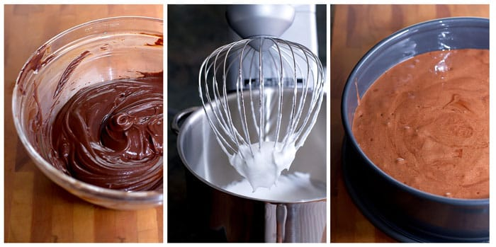 photo collage showing how to make the batter