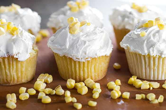 Fresh Corn Cupcakes with Browned Butter Frosting
