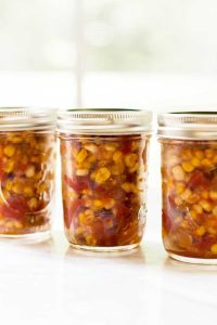 Easy to make spicy sweet corn relish