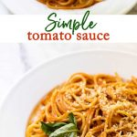 A simple tomato sauce for all your favorite pasta dishes