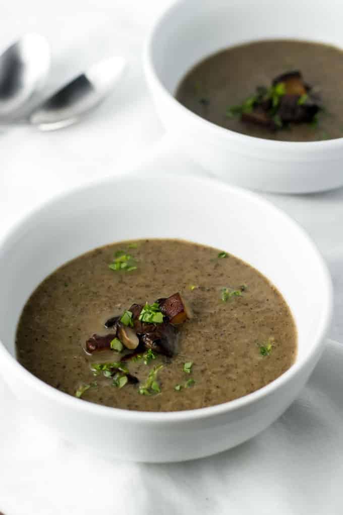 Mushroom and Leek Soup | girlgonegourmet.com