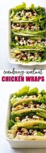 Cranberry-Walnut Chicken Wraps