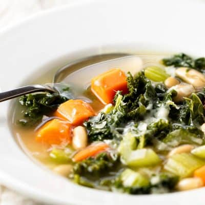 Hearty Veggie Soup with White Beans and Kale