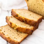 Rustic peanut butter banana bread. Easy to make!