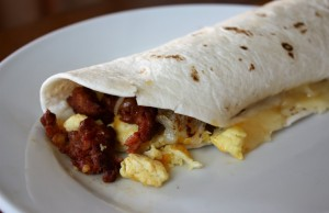 Chorizo Breakfast Burritos | girlgonegourmet.com