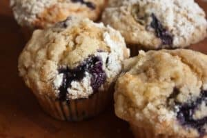 Banana and blueberry buttermilk muffins | girlgonegourmet.com