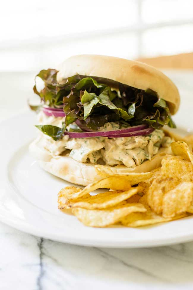 Chicken Salad Sandwich | girlgonegourmet.com