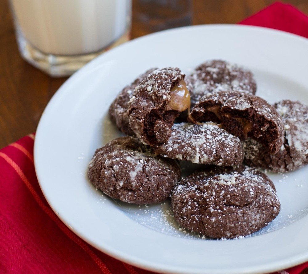 Rolo Chocolate Crackle Cookies | Girl Gone Gourmet