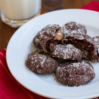 Rolo Chocolate Crackle Cookies