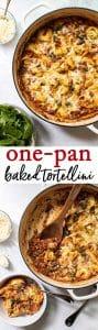 Easy one-pan baked tortellini