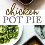 Chicken pot pie with chicken and veggies