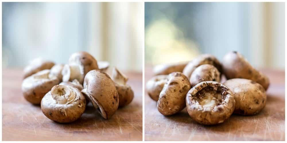 Goat Cheese Stuffed Mushrooms | Girl Gone Gourmet