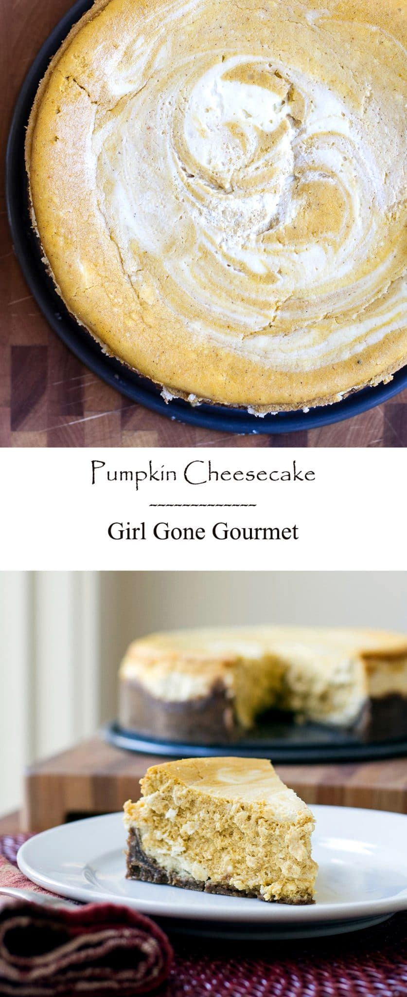 Pumpkin Cheesecake | Girl Gone Gourmet