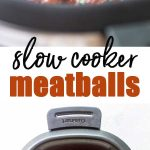 slow cooker meatballs photo collage