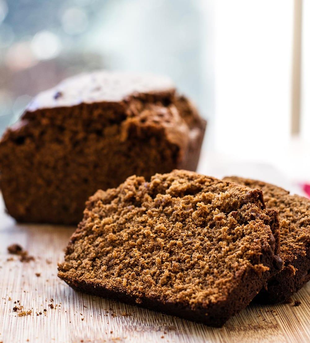 Sliced gingerbread