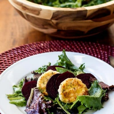 Goat Cheese Salad with Roasted Beets