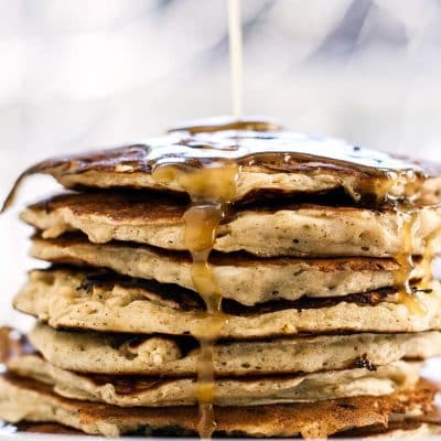 Banana Pancakes with a Maple Butter Glaze