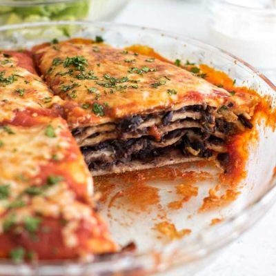Black Bean Enchilada Pie