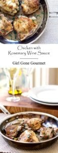 Chicken with rosemary wine sauce #chickenthighs #chicken #rosemary #butter #whitewine