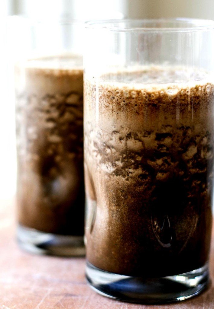 Two mocha smoothies