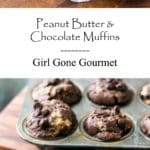 Peanut Butter & Chocolate Muffins - Need I say more? | girlgonegourmet.com