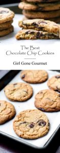 chocolate chip cookie photo collage