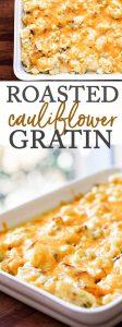 cauliflower gratin photo collage