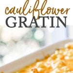 cauliflower gratin photo collage