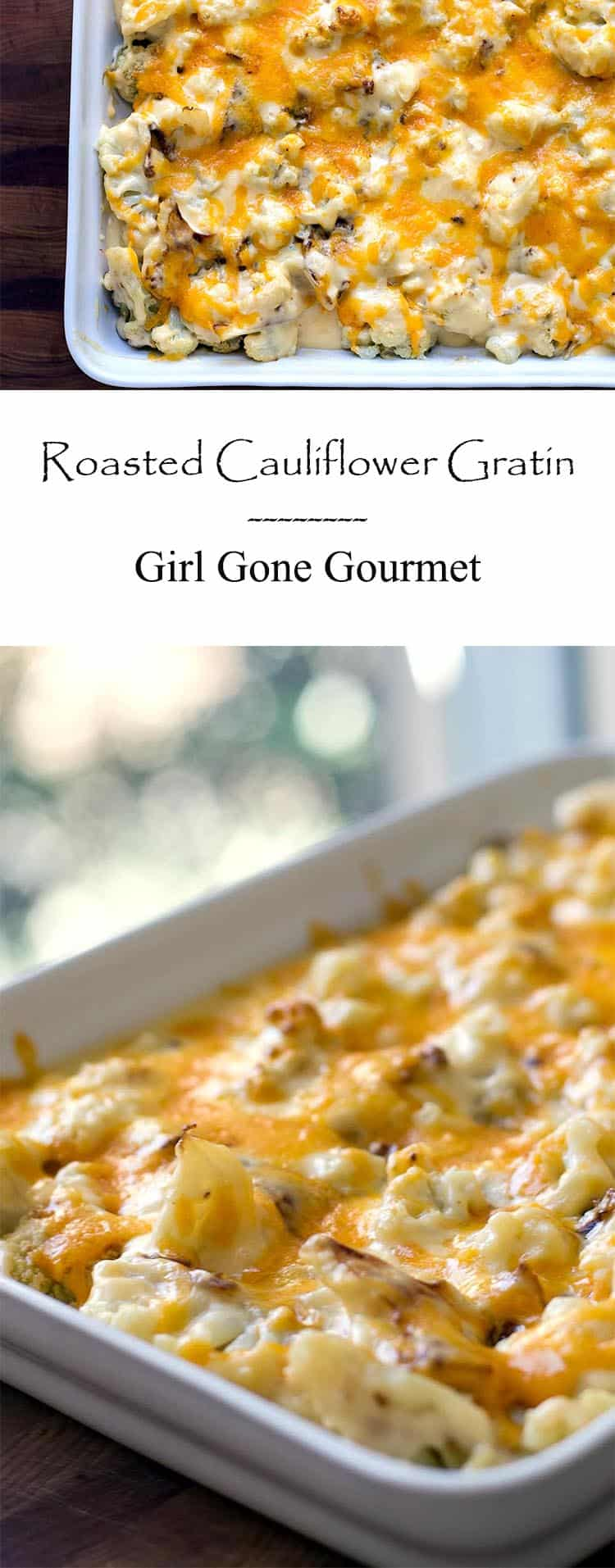 This creamy, cheesy gratin starts with a simple bechamel sauce - it's comfort food heaven! | girlgonegourmet.com