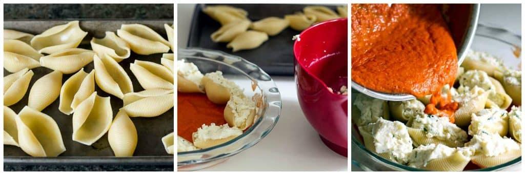 Stuffed Shells with Tomato Sauce | girlgonegourmet.com