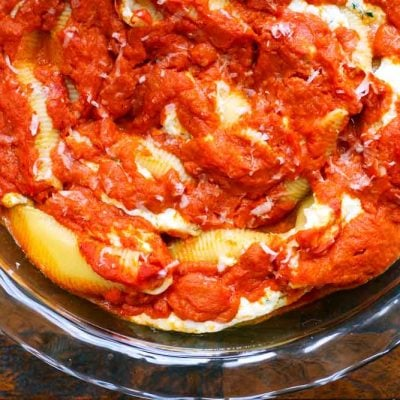 Stuffed Shells with Tomato Sauce