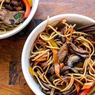 Beef and Veggie Noodle Bowls