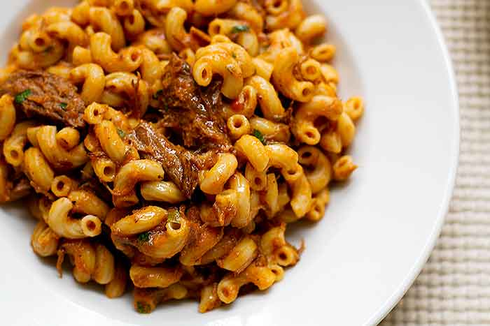 Grown-Up Beefaroni | Girl Gone Gourmet