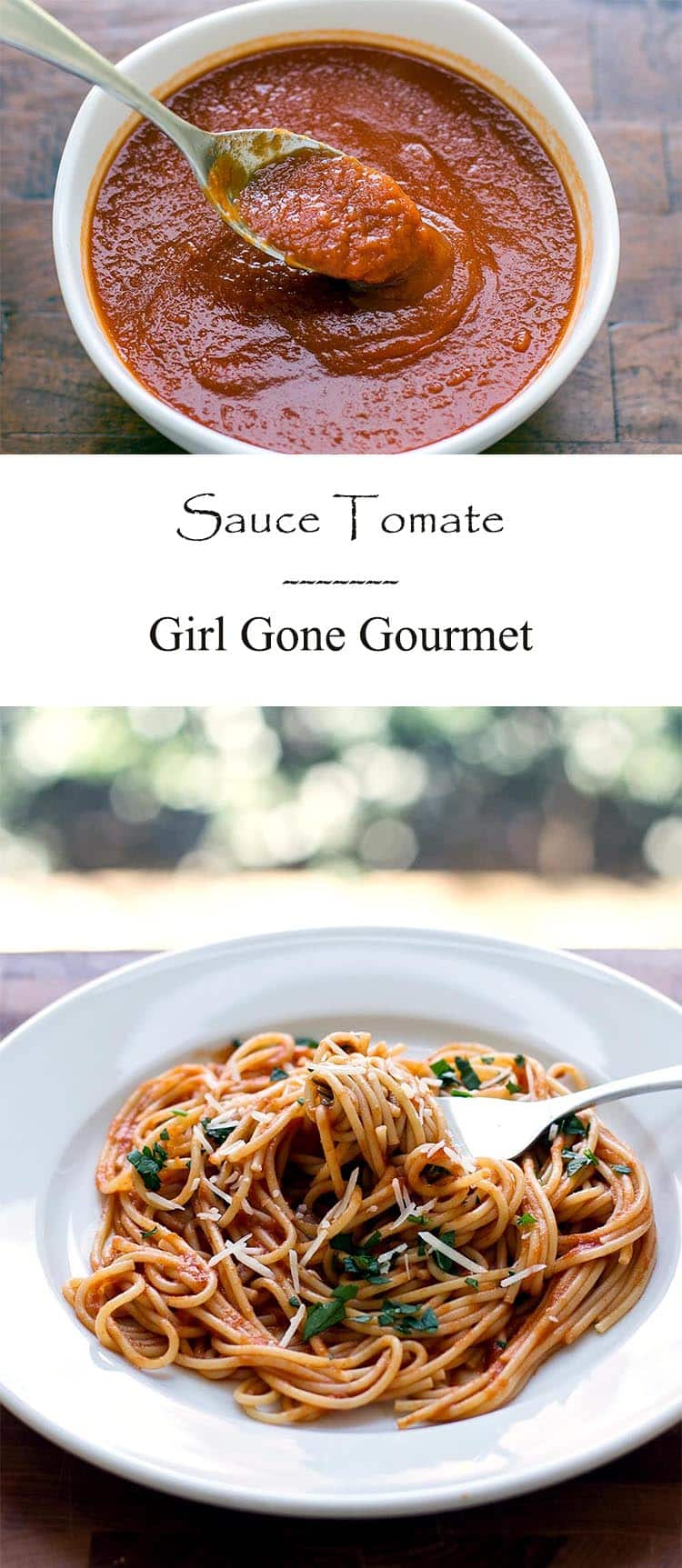 This sauce tomate is slow-cooked for maximum flavor! | girlgonegourmet.com