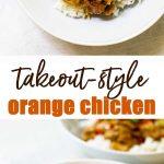 orange chicken photo collage
