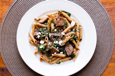 Pasta with steak and spinach girl gone gourmet steak spinach pasta girlgonegourmet forumfinder Images