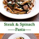 Steak & Spinach Pasta   girlgonegourmet.com