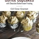 Coffee cupcakes photo collage