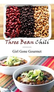 three bean chili photo collage