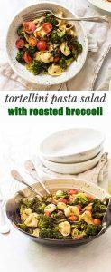 tortellini pasta salad photo collage
