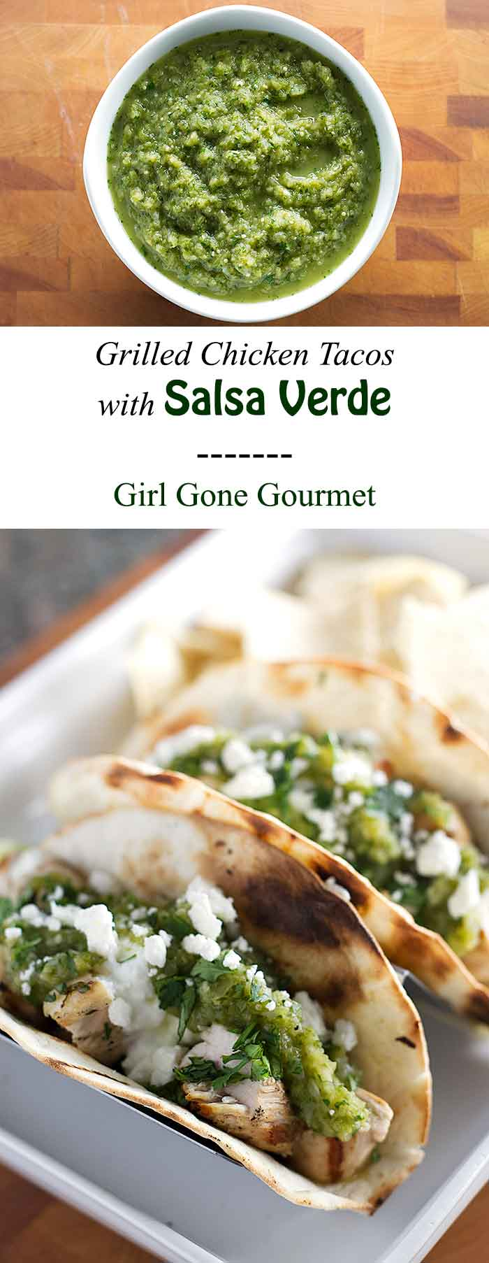 Get the recipe for salsa verde - it's perfect on tacos! | girlgonegourmet.com