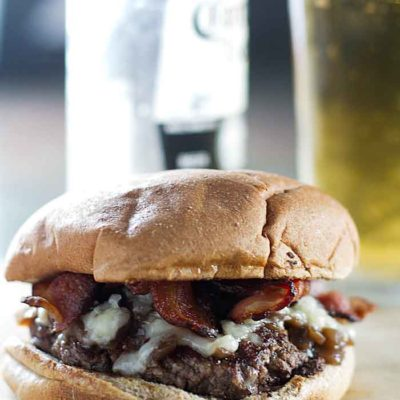 Bacon Cheeseburger with Balsamic Onions